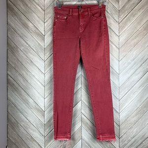 GAP 1969 true skinny jeans raw hem size 25